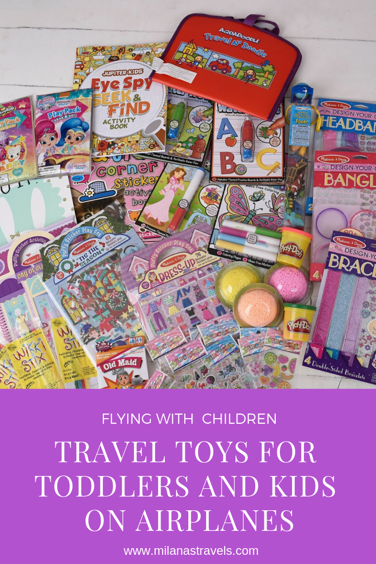 Travel toys for toddlers and kids on airplanes