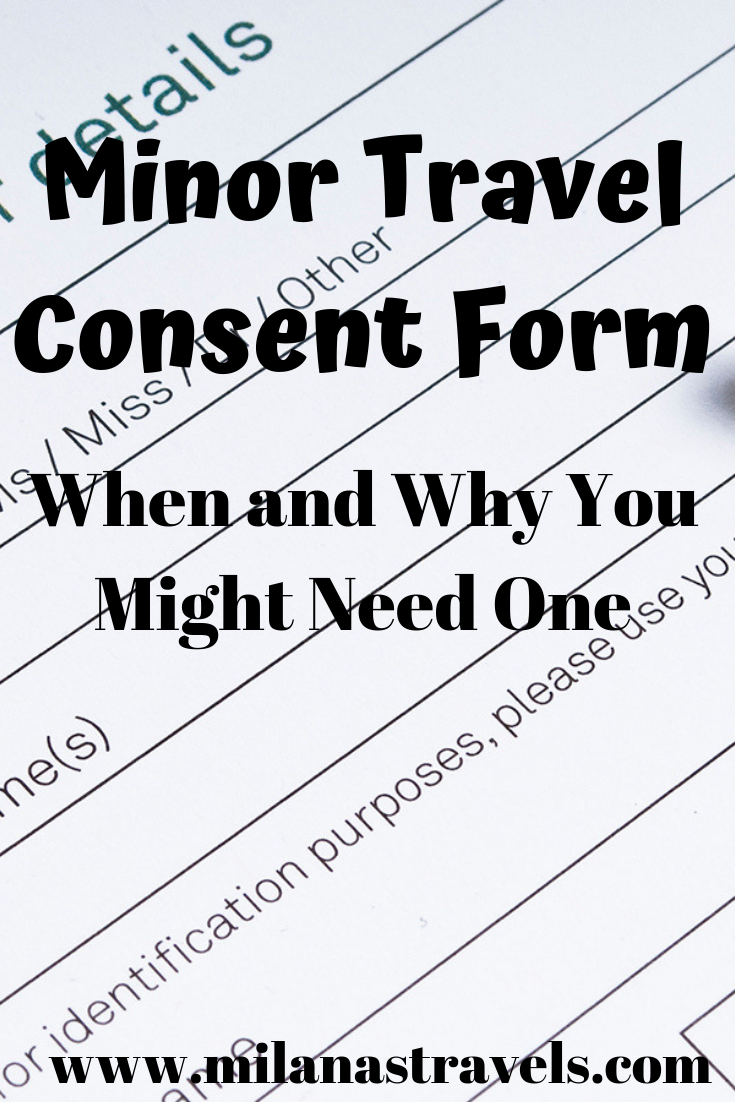 Minor Travel Consent Form Letter Template