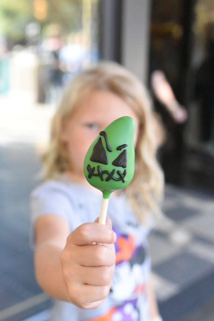 oogie boogie cake pop disneyland halloween treats