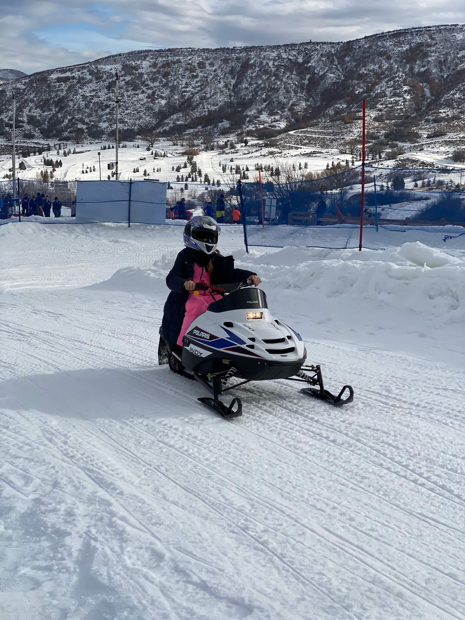 kid sized snowmobile park city utah