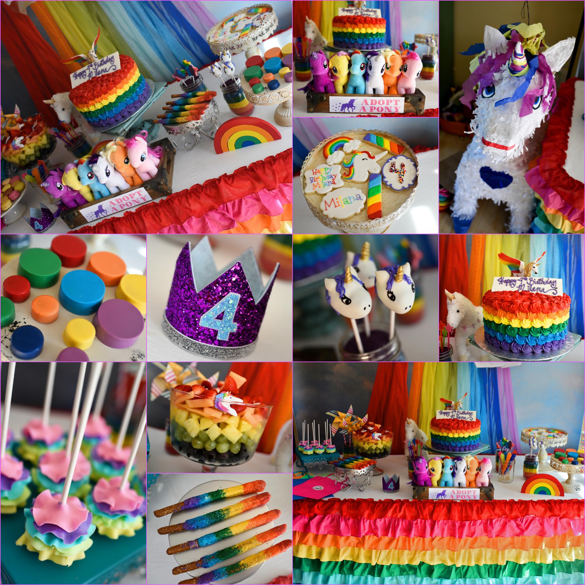 unicorn and rainbow party