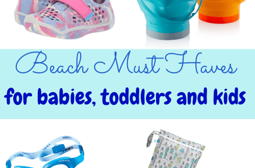 beach must haves for babies, toddlers and kids