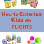 how to entertain kids on plane