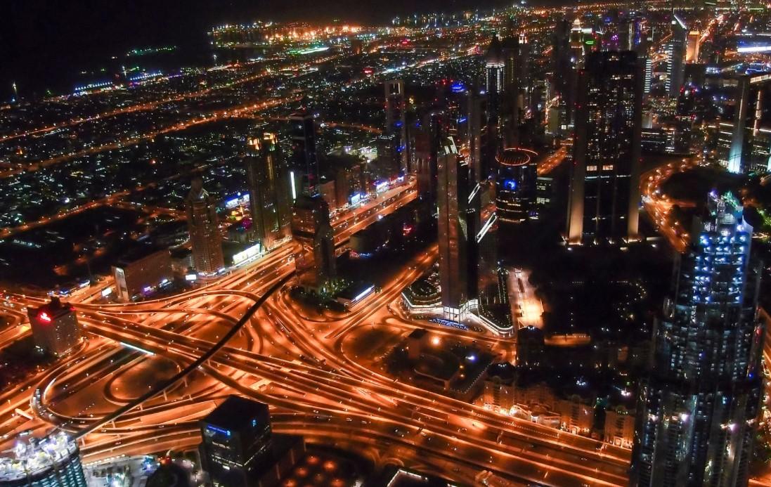 Dubai at Night from the Burj Khalifa