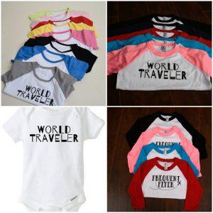 world traveler kid shirt