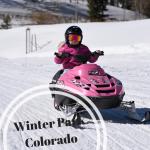winter park kid snowmobile