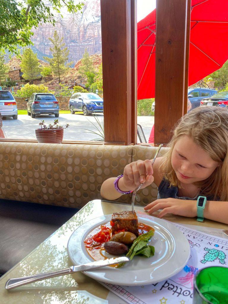 kid friendly restaurant zion