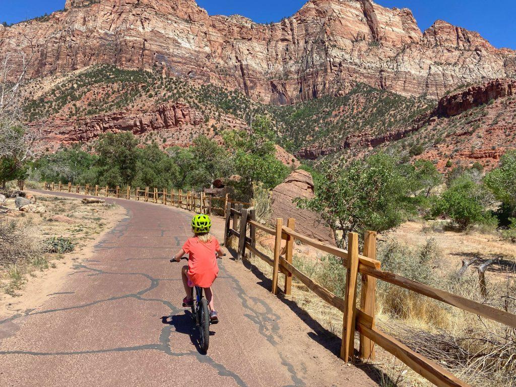 bike rentals for kids zion national park