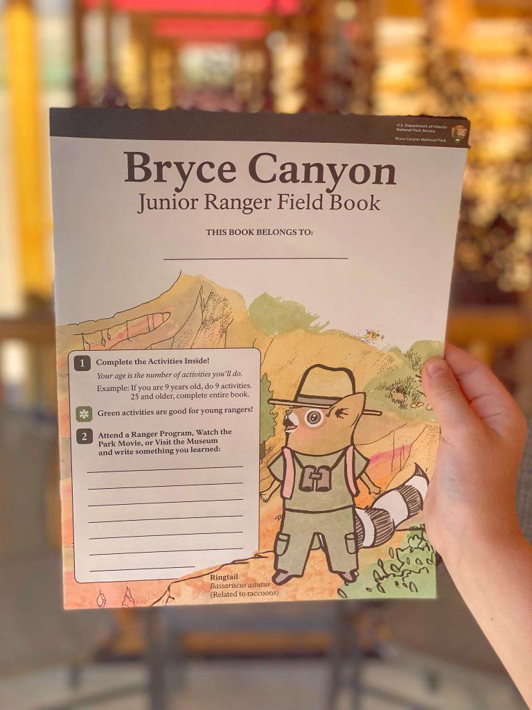 Bryce canyon junior ranger program
