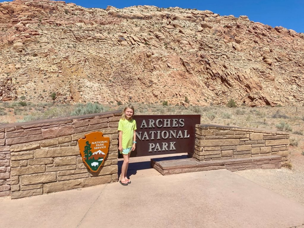 visiting arches national park with kids
